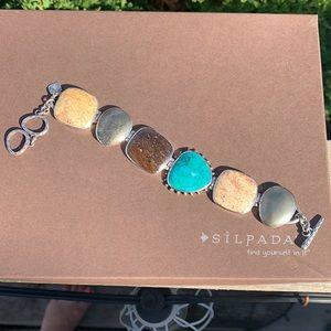 B1934 retired Silpada multi-stone bracelet